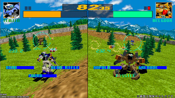 [Análise Retro Game] - Cyber Troopers Virtual-On - Sega Saturn/PC/PS2/PS3 Caption6b